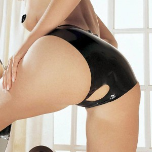LATEX OPENCROTCH PANTIES