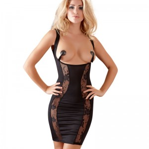Mini Dress With Open Front