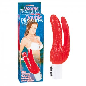 Double Pleasures Red Jelly Vibrator