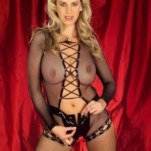 Fishnet Body Stocking With PVC Zipper