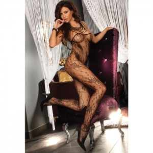 Corsetti Chrysanthe Bodystocking Black UK Size 812