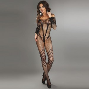 Corsetti Siriana Bodystocking Black UK Size 812