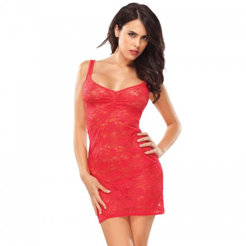 Coquette Kissable Red Lacey Dress UK 814