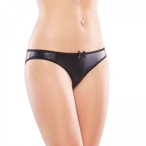 Coquette Wet look Crotchless Panty UK 814