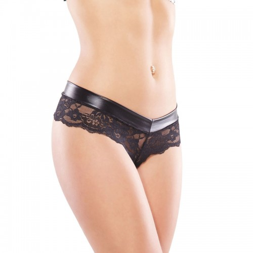 Coquette Low Rise Wet Look Chain Panty UK 814