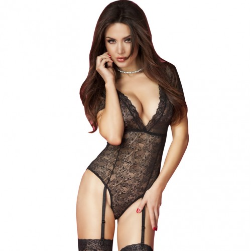 Chilirose Lace Body with Garter Belts