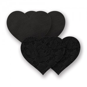 Nippies Pasties  Basic Black Heart