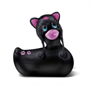 I Rub My Duckie Travel Size Hoodie Kitty Black