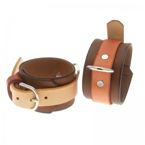 House of Eros Brown and Tan Ankle Cuffs