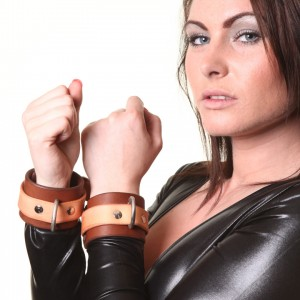House of Eros Superior Brown and Tan Wrist Cuffs