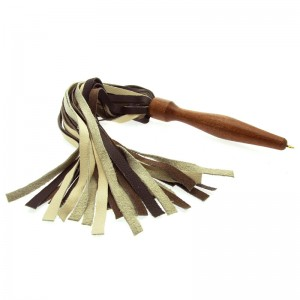 House of Eros Medium Weight Flogger Brown and Cream
