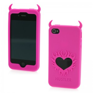 Hustler Silicone iPhone 4 and 4s Pink Horny Heart Case