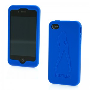 Hustler Silicone iPhone 4 and 4s Blue Sexy Girl Case