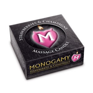 Monogamy Strawberry  and  Champagne Small Intimate Candle 25g