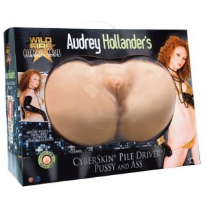 Audrey Hollanders CyberSkin Pile Driver Pussy and Ass