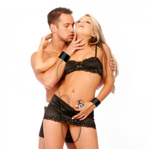 Fetish Fantasy Remote Control Shock Therapy Electro Touch Cuffs