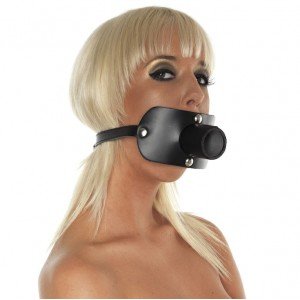 Leather Gag with Urine Tube
